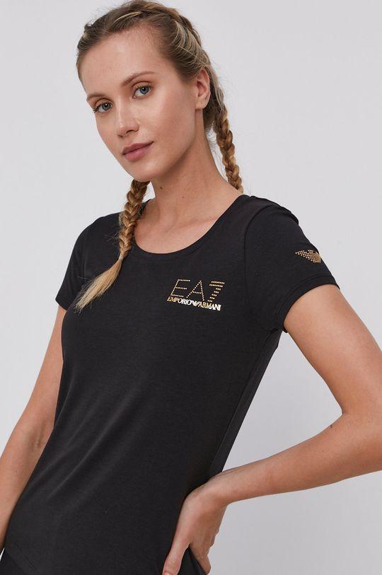 fekete EA7 Emporio Armani - T-shirt Női