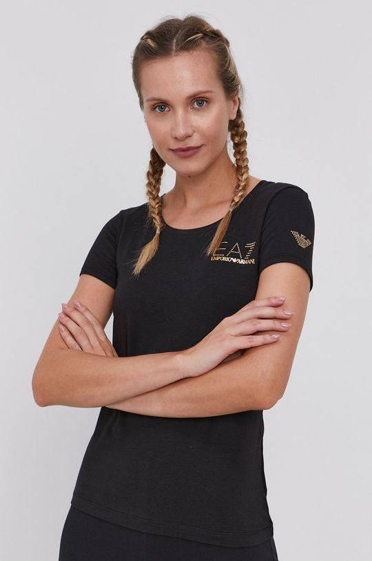 fekete EA7 Emporio Armani - T-shirt