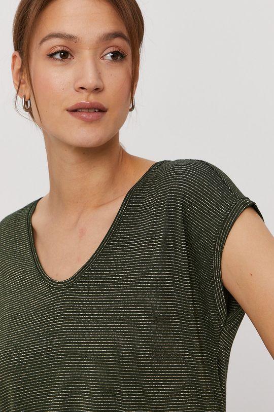 ciemny zielony Pieces - T-shirt Damski