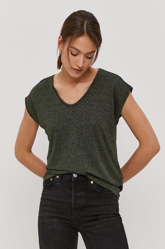 ciemny zielony Pieces - T-shirt