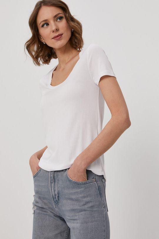 biały Pieces - T-shirt Damski