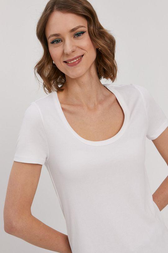 biały Pieces - T-shirt