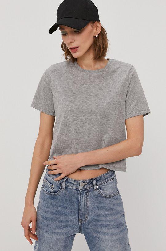 jasny szary Pieces - T-shirt Damski