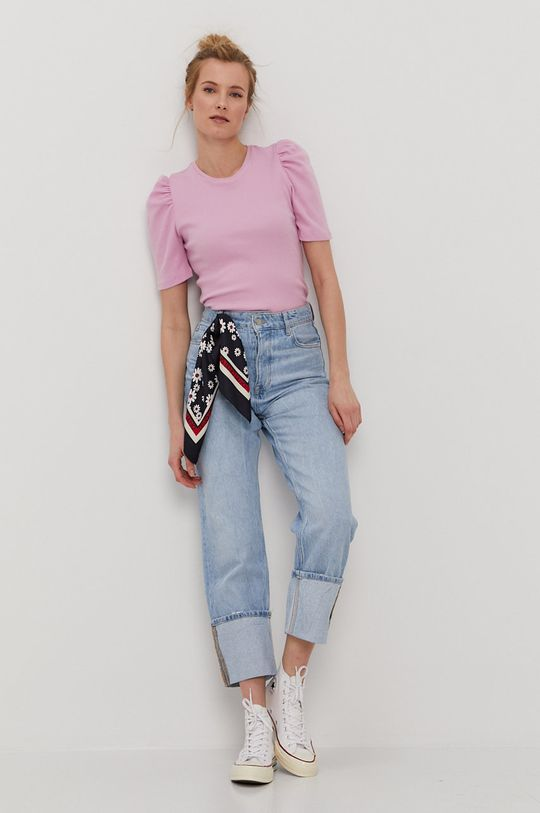 Pieces - T-shirt różowy