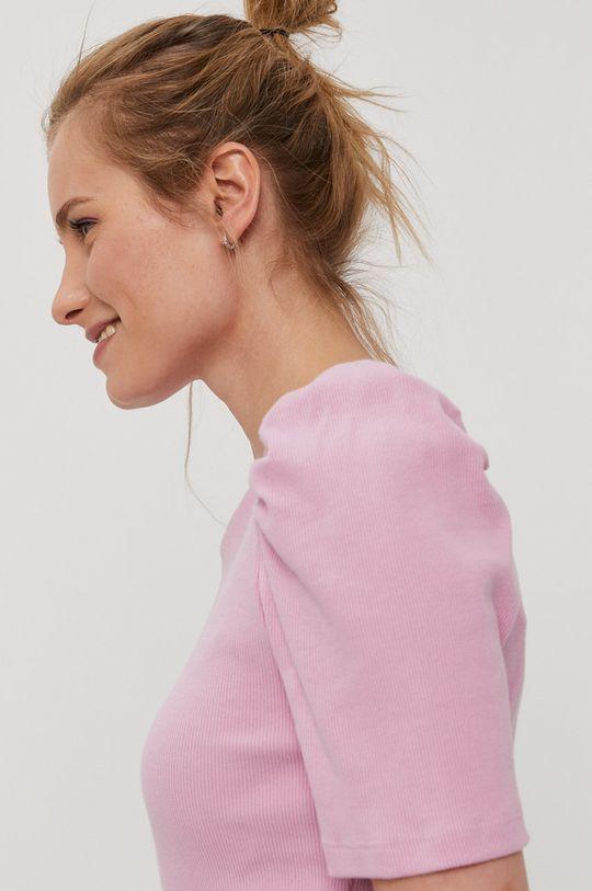 różowy Pieces - T-shirt