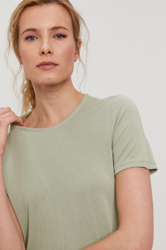 jasny zielony Pieces - T-shirt