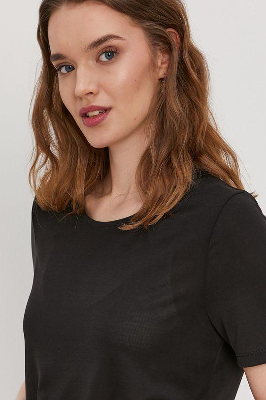 czarny Pieces - T-shirt