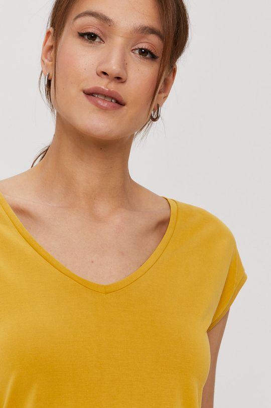 žltá Pieces - Tričko