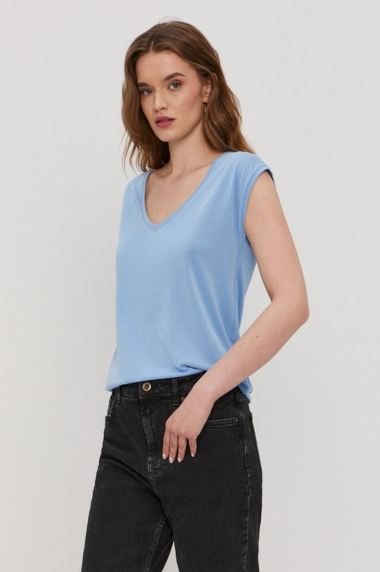 niebieski Pieces - T-shirt Damski