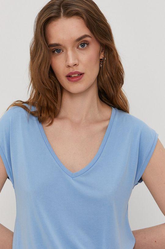 niebieski Pieces - T-shirt
