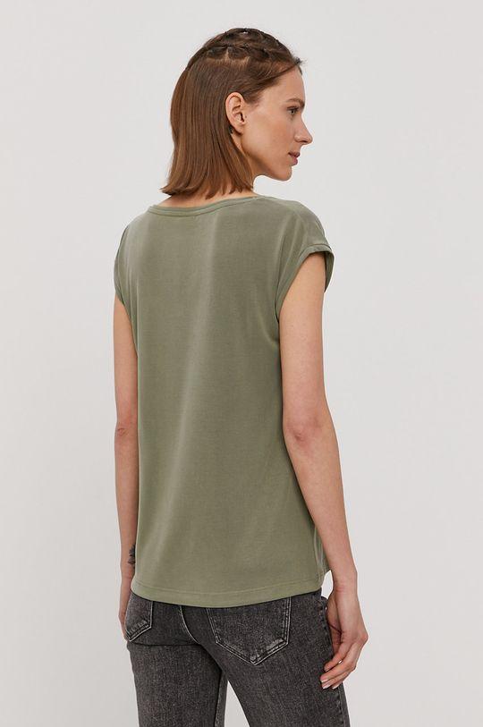 Pieces - T-shirt oliwkowy