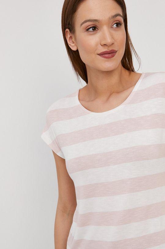 pastelowy różowy Vero Moda - T-shirt Damski