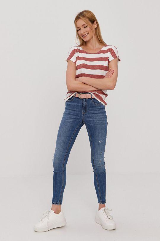 Vero Moda - T-shirt różowy