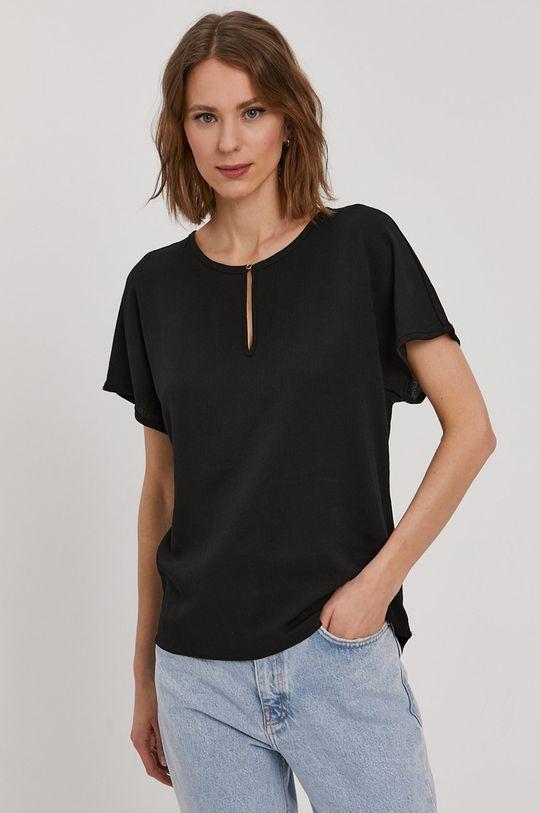 czarny Vero Moda - Bluzka Damski