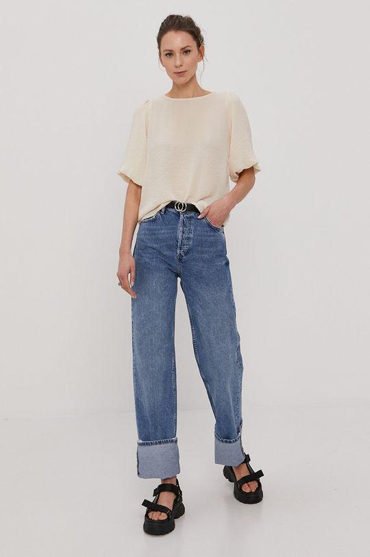 Vero Moda - Bluzka kremowy