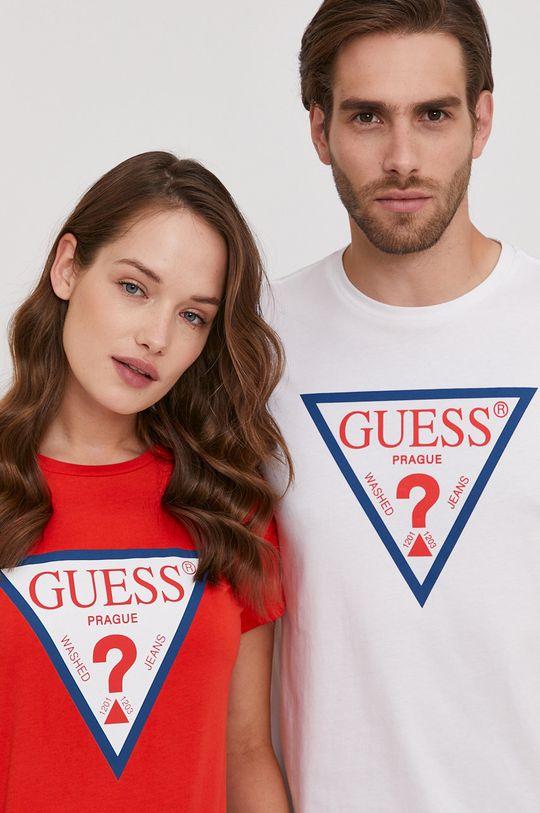 červená Guess - Tričko z narozeninové kolekce