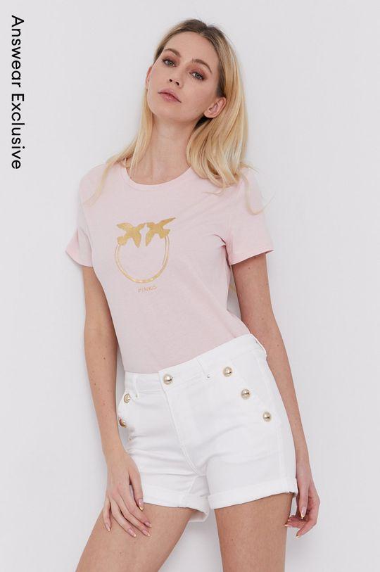 różowy Pinko - T-shirt Damski