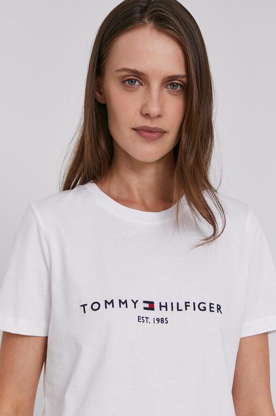 Tommy Hilfiger - Bavlnené tričko biela