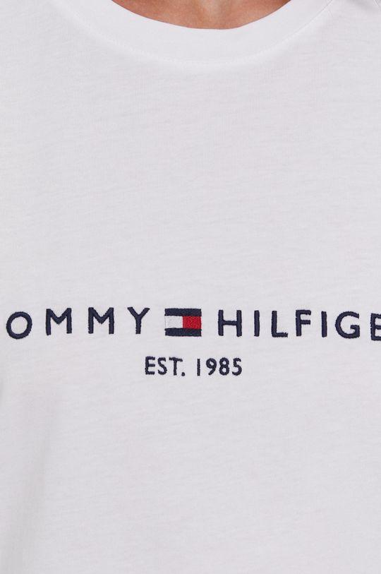 biela Tommy Hilfiger - Bavlnené tričko