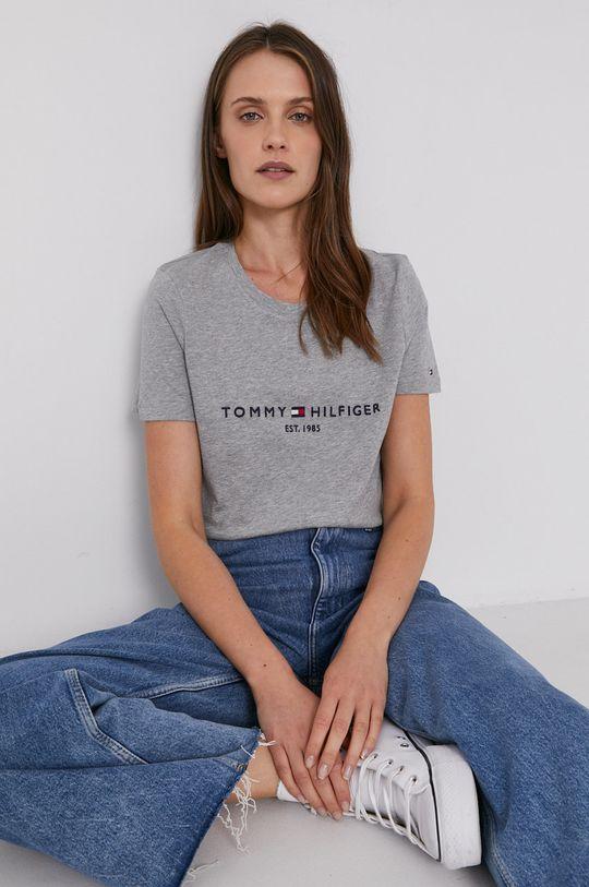 sivá Tommy Hilfiger - Bavlnené tričko Dámsky
