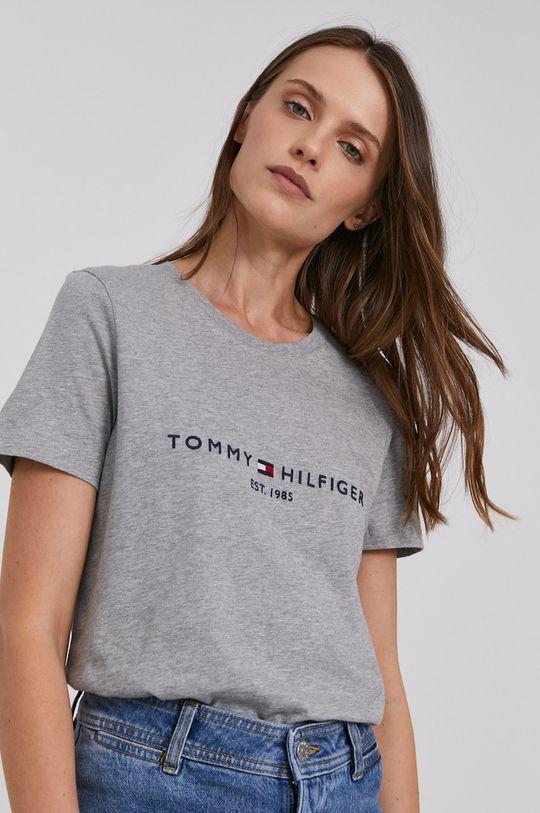 sivá Tommy Hilfiger - Bavlnené tričko