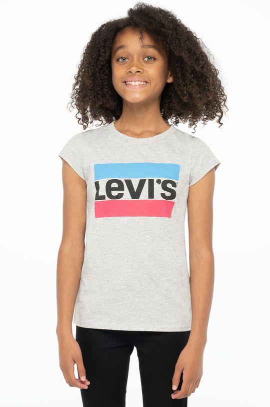 jasny szary Levi's - T-shirt dziecięcy Dziewczęcy