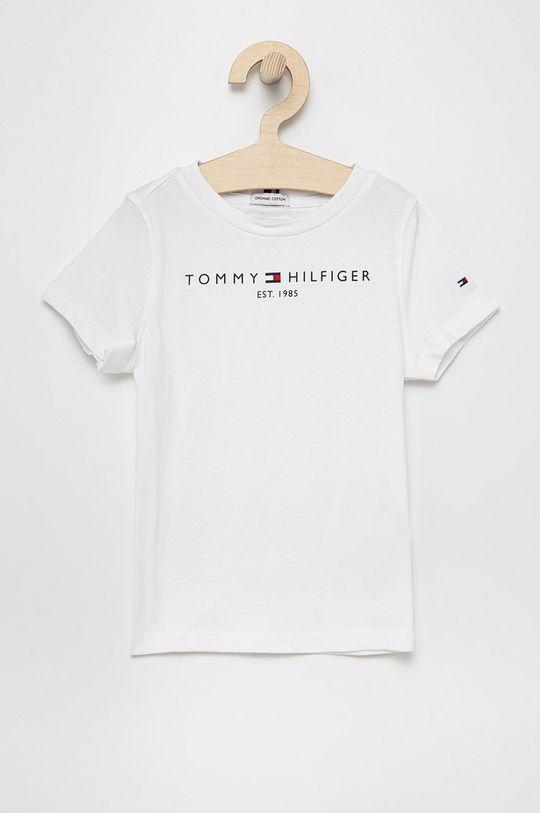 biały Tommy Hilfiger - T-shirt bawełniany dziecięcy Dziecięcy