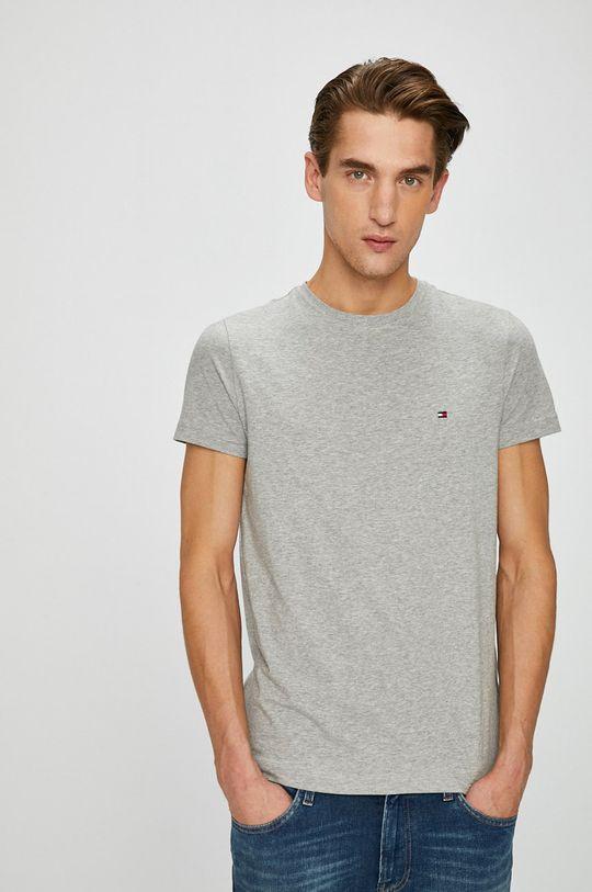 sivá Tommy Hilfiger - Pánske tričko Pánsky