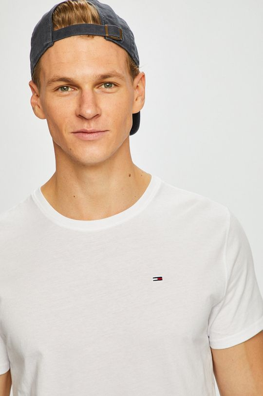 biela Tommy Jeans - Pánske tričko Pánsky