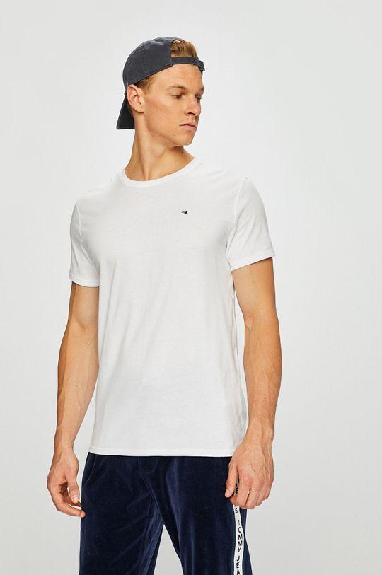 biela Tommy Jeans - Pánske tričko