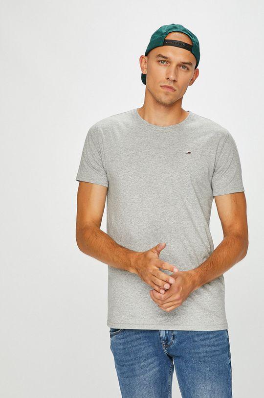 svetlosivá Tommy Jeans - Pánske tričko Pánsky