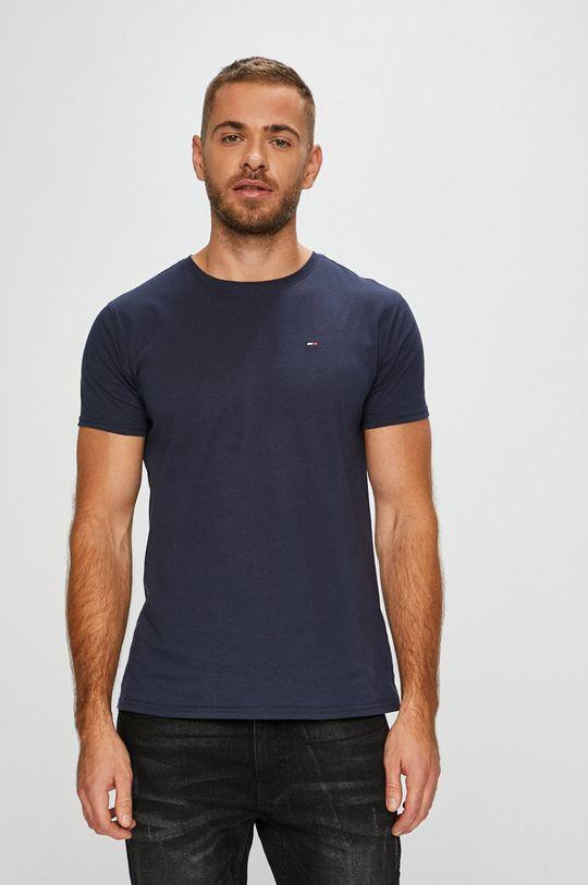 granatowy Tommy Jeans - T-shirt Męski