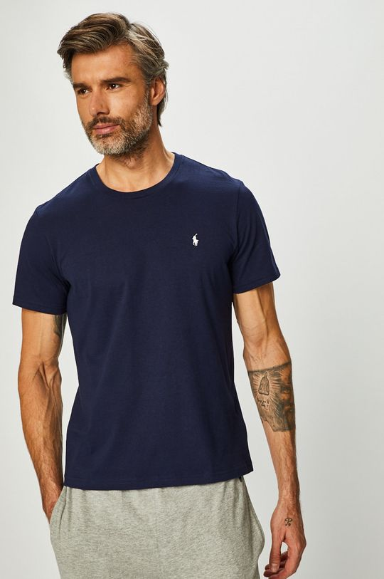 granatowy Polo Ralph Lauren - T-shirt Męski