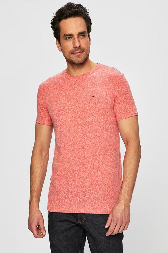 červená Tommy Jeans - Pánske tričko Pánsky