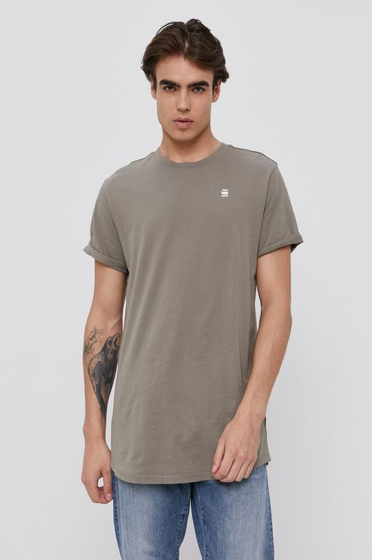brudny zielony G-Star Raw - T-shirt Męski