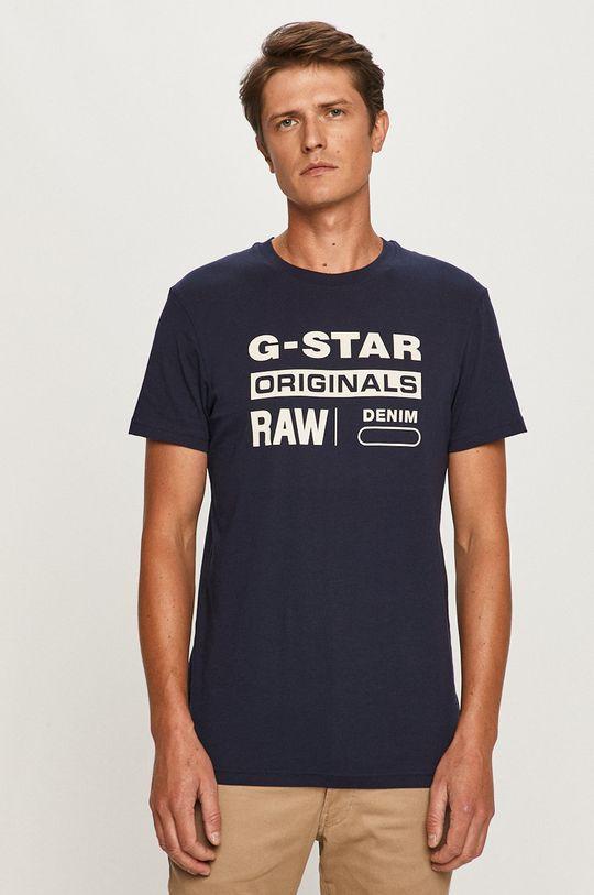 námořnická modř G-Star Raw - Tričko Pánský