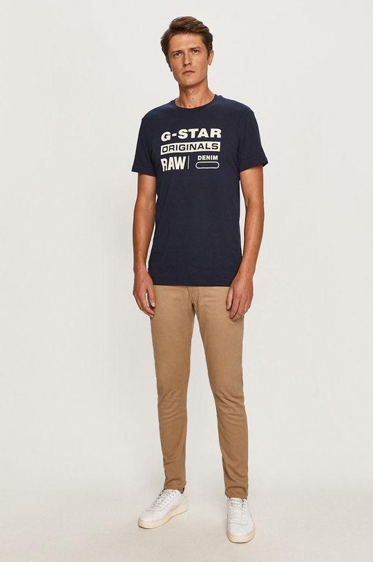G-Star Raw - Tričko námořnická modř