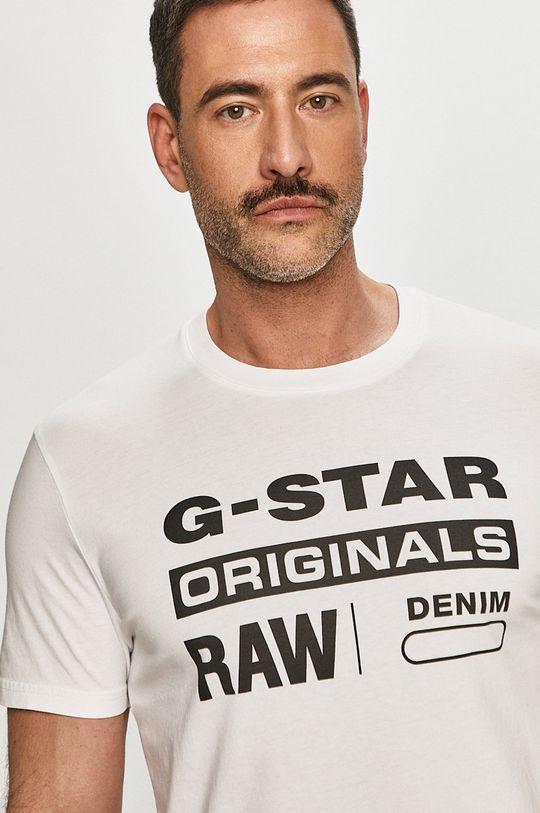 biały G-Star Raw - T-shirt Męski
