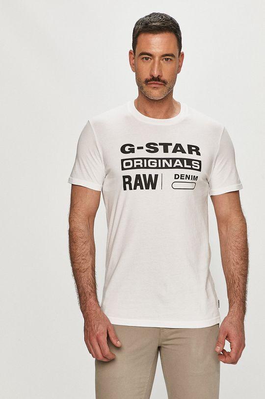 biela G-Star Raw - Pánske tričko