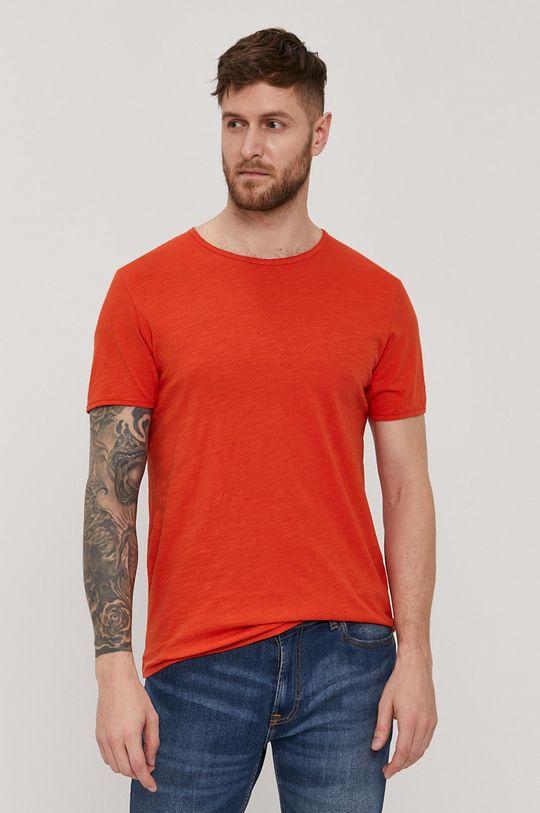 miedziany Selected - T-shirt Męski