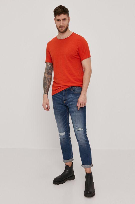 Selected - T-shirt miedziany