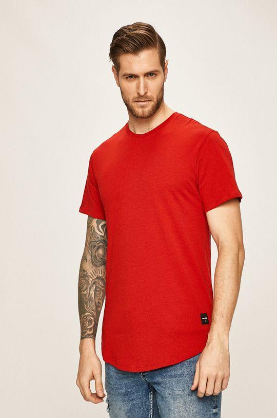 červená Only & Sons - Pánske tričko Pánsky