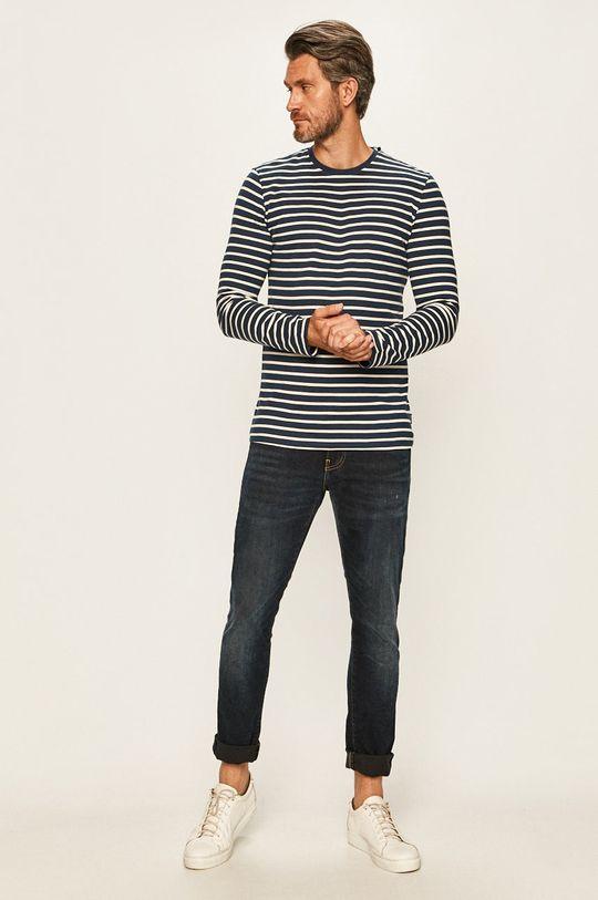 Only & Sons - Tričko s dlouhým rukávem námořnická modř