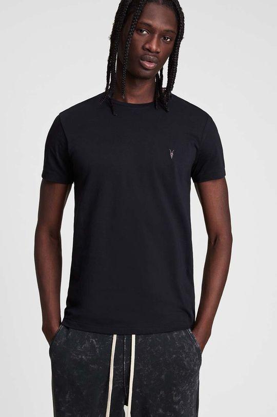 czarny AllSaints - T-shirt Tonic SS Crew Męski