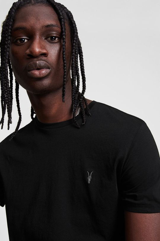 AllSaints - T-shirt Tonic SS Crew czarny
