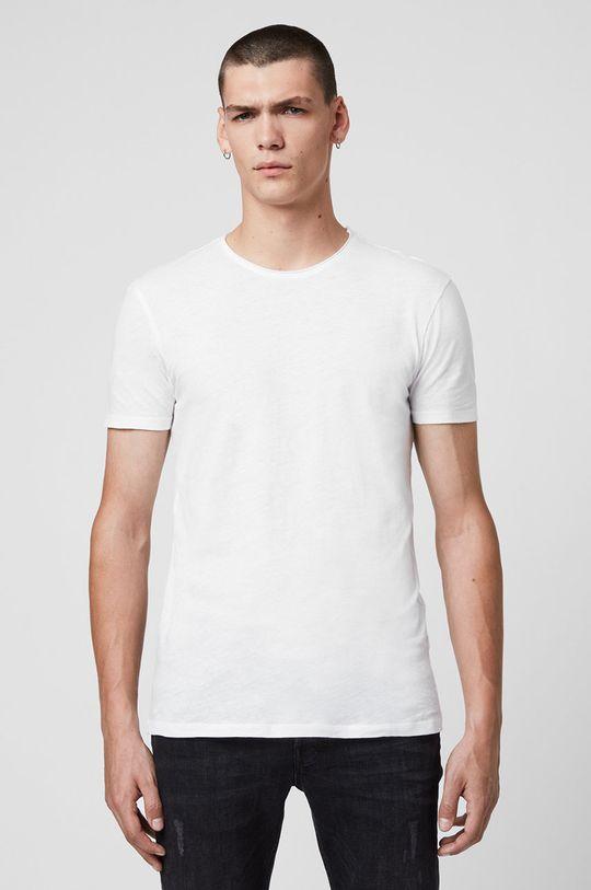 biały AllSaints - T-shirt Figure Crew Męski