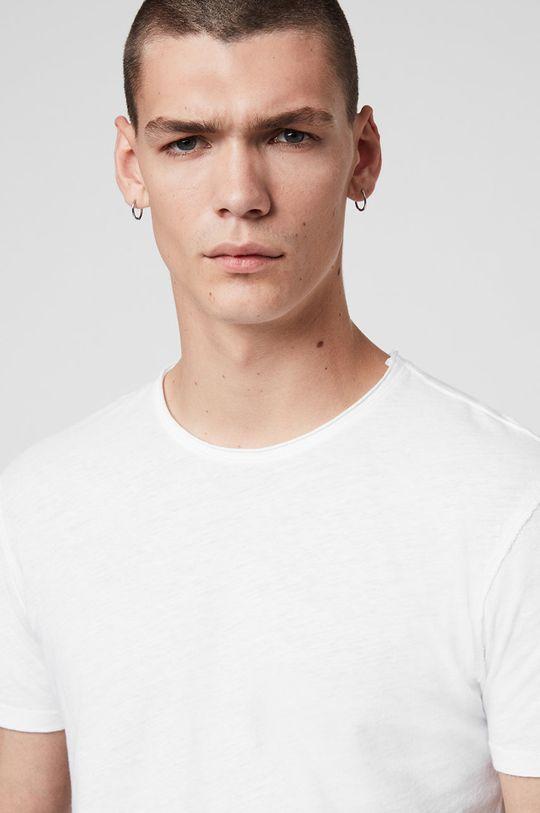 AllSaints - T-shirt Figure Crew biały