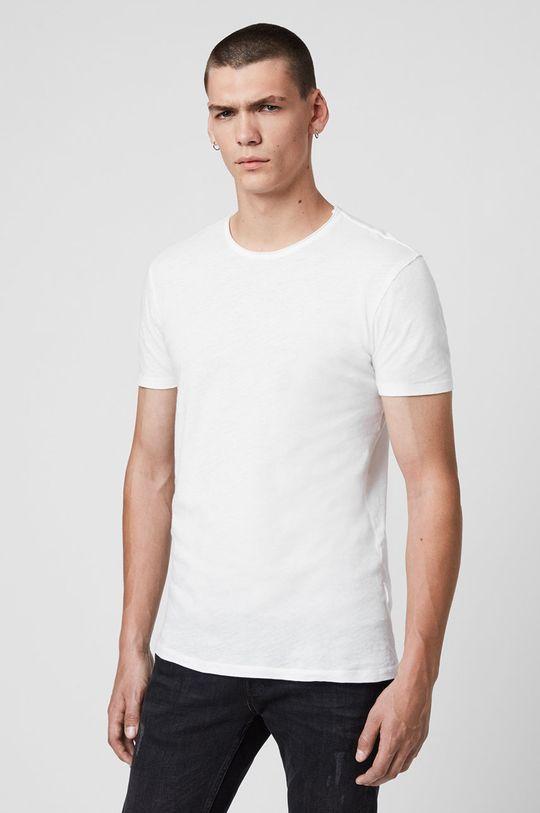 biały AllSaints - T-shirt Figure Crew