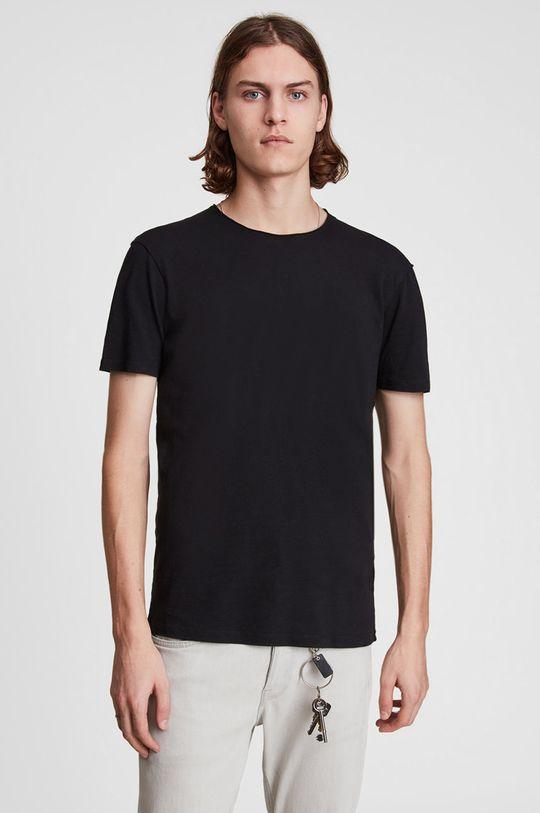 černá AllSaints - Tričko Figure Crew Pánský
