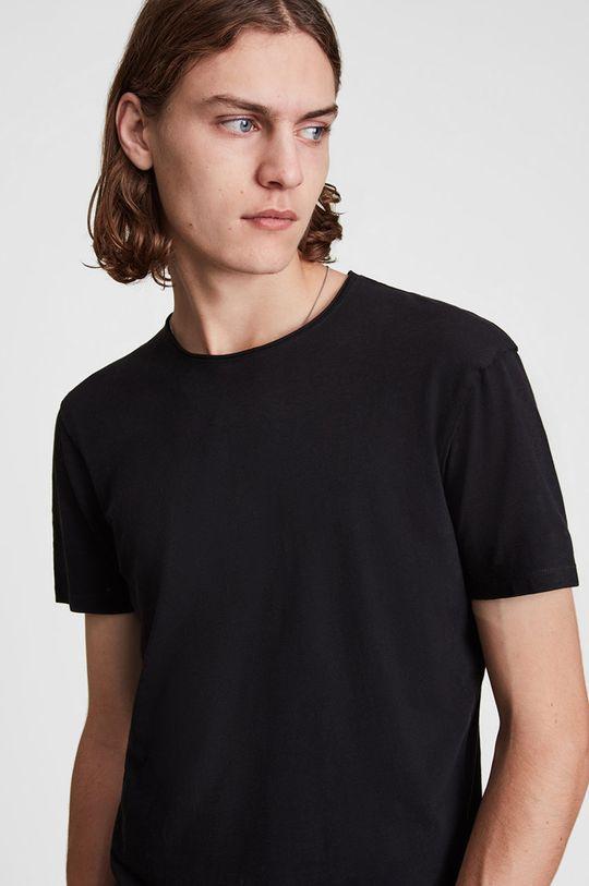AllSaints - Tričko Figure Crew černá
